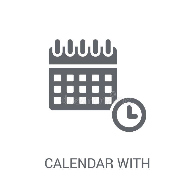 Календарь со значком крайних сроков Ультрамодный календарь с журналом крайних сроков бесплатная иллюстрация