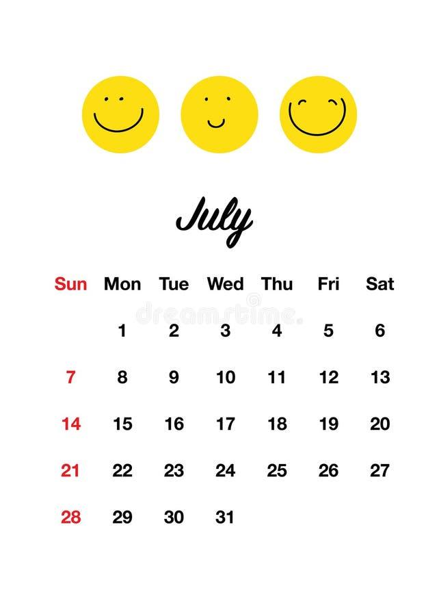 Календарь 2019 улыбки стоковые изображения rf