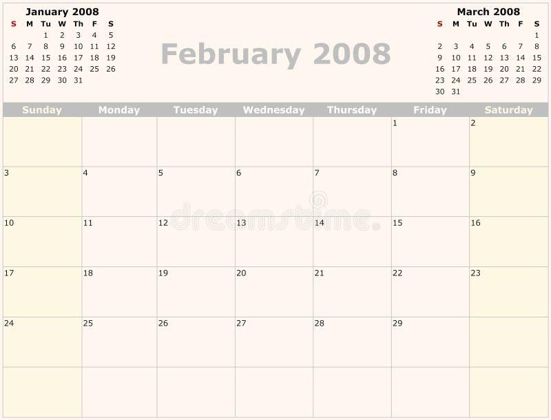 календар ежемесячный иллюстрация штока
