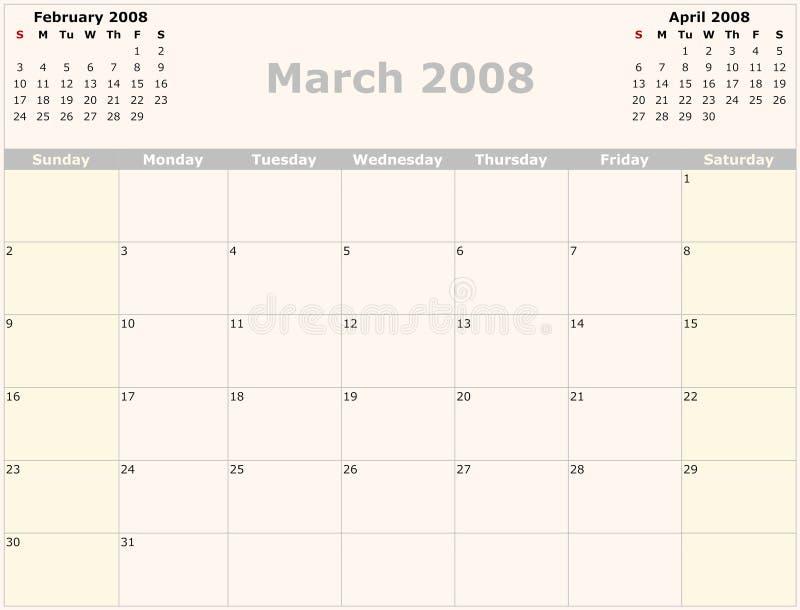 календар ежемесячный бесплатная иллюстрация