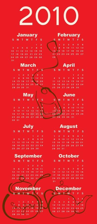 Календар на 2010 иллюстрация штока