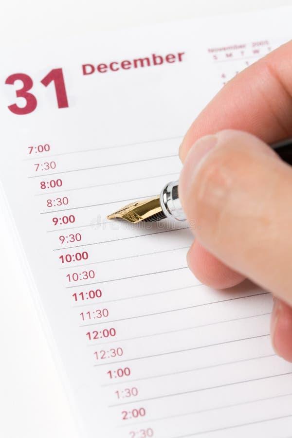 календар повестки дня стоковые фото