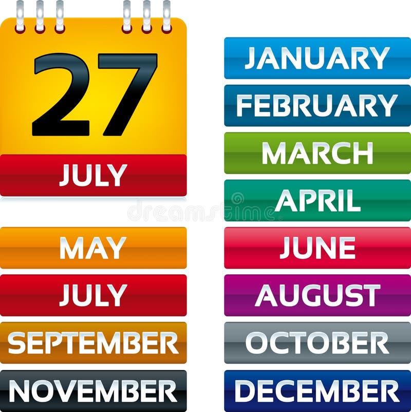 Календар страницы иллюстрация штока