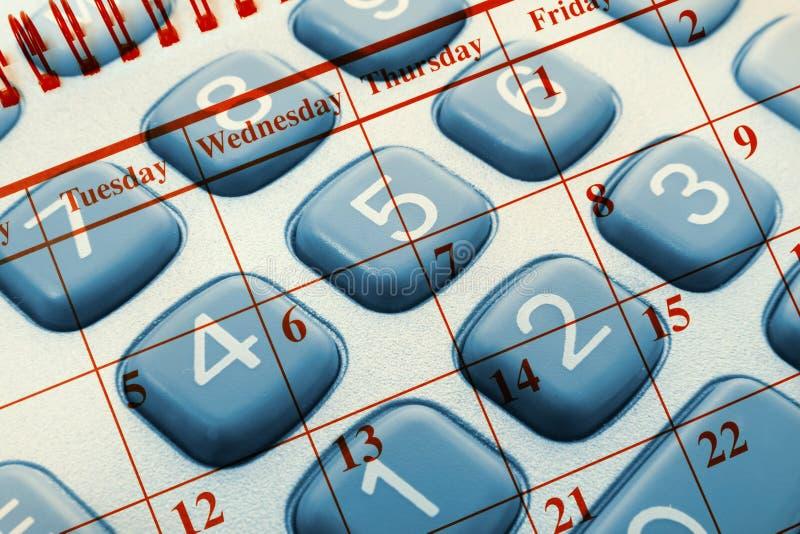 календар чалькулятора стоковое изображение