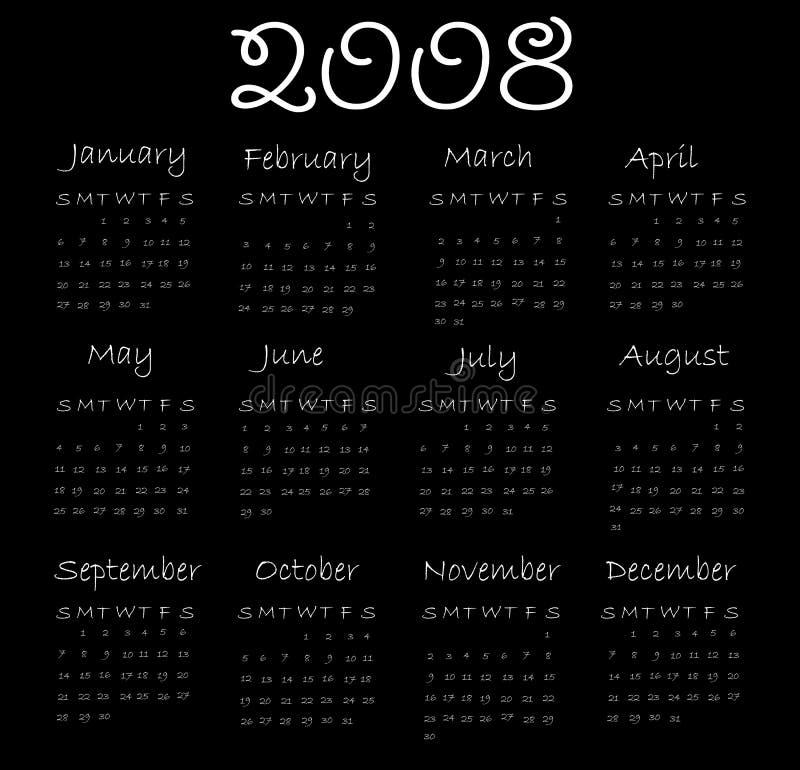 календар 2008 бесплатная иллюстрация