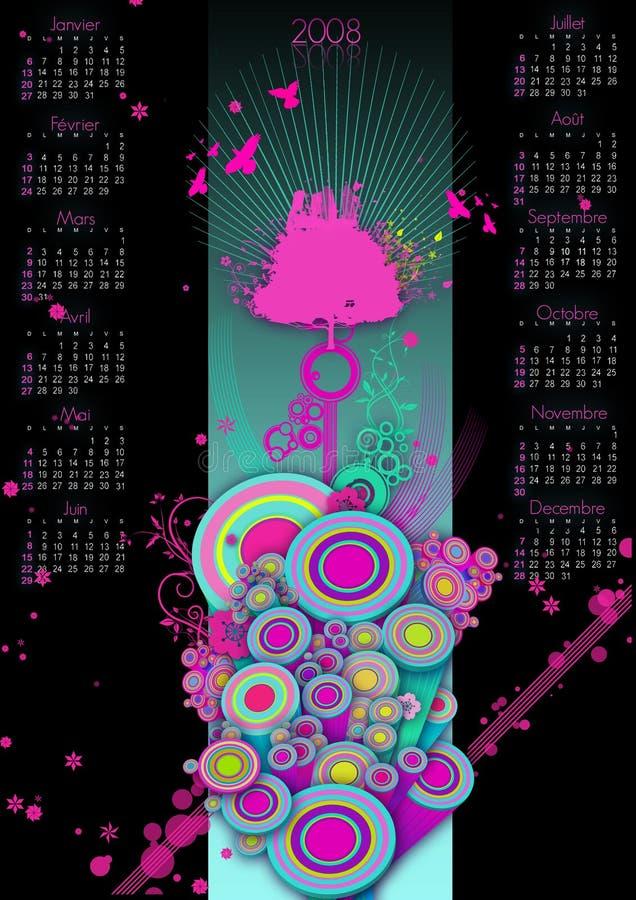 календар 2008 иллюстрация штока