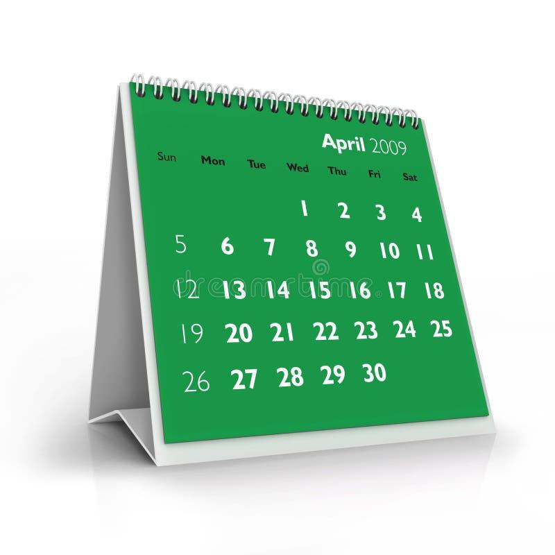 календар 2009 -го в апреле бесплатная иллюстрация