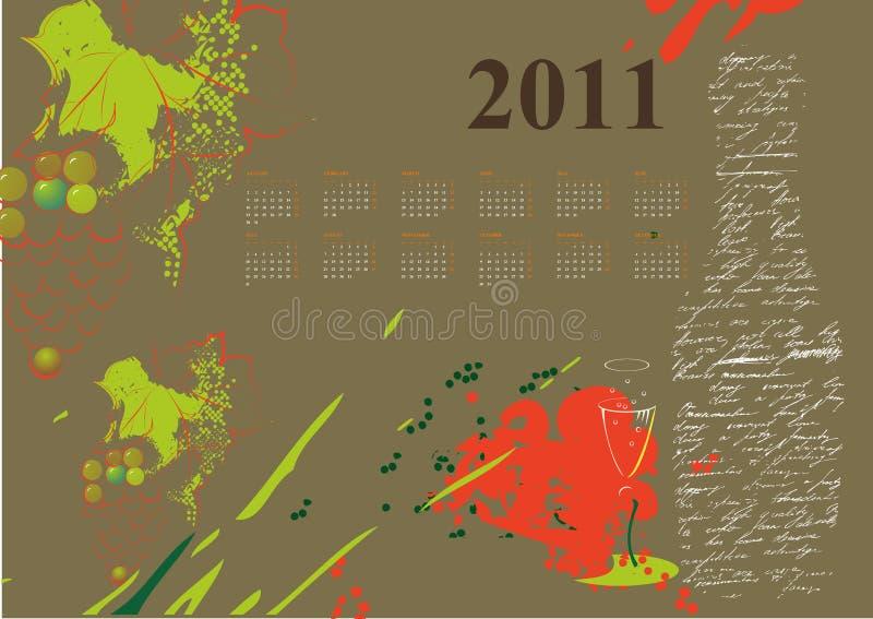 календар 2011 иллюстрация вектора