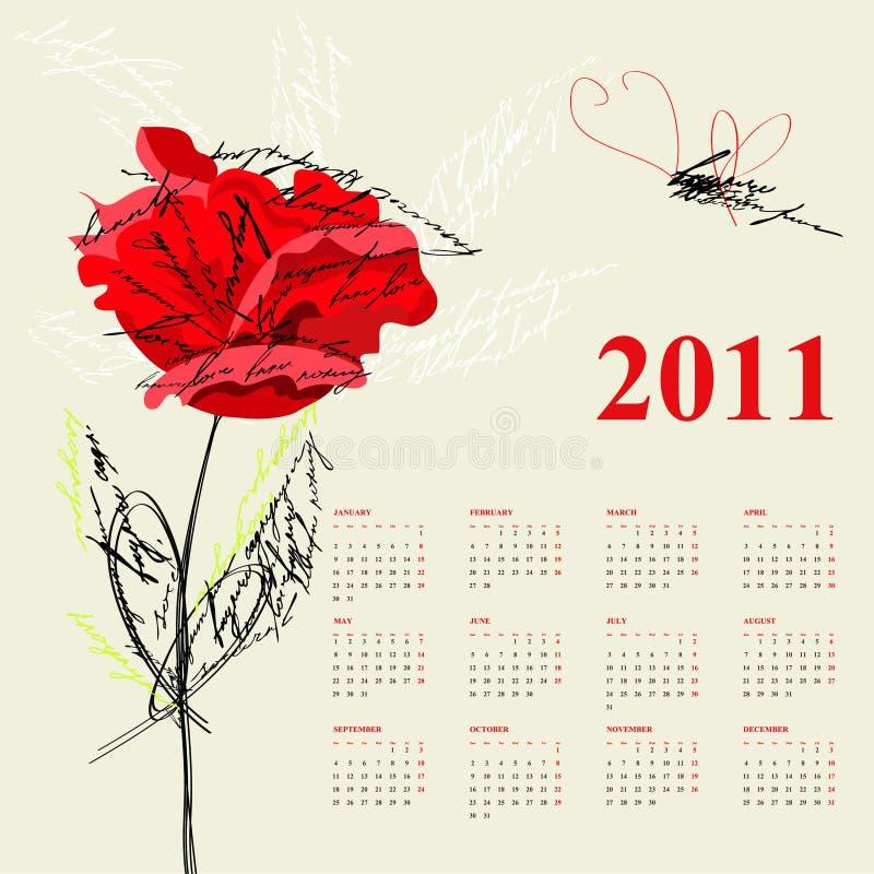 календар 2011 бесплатная иллюстрация