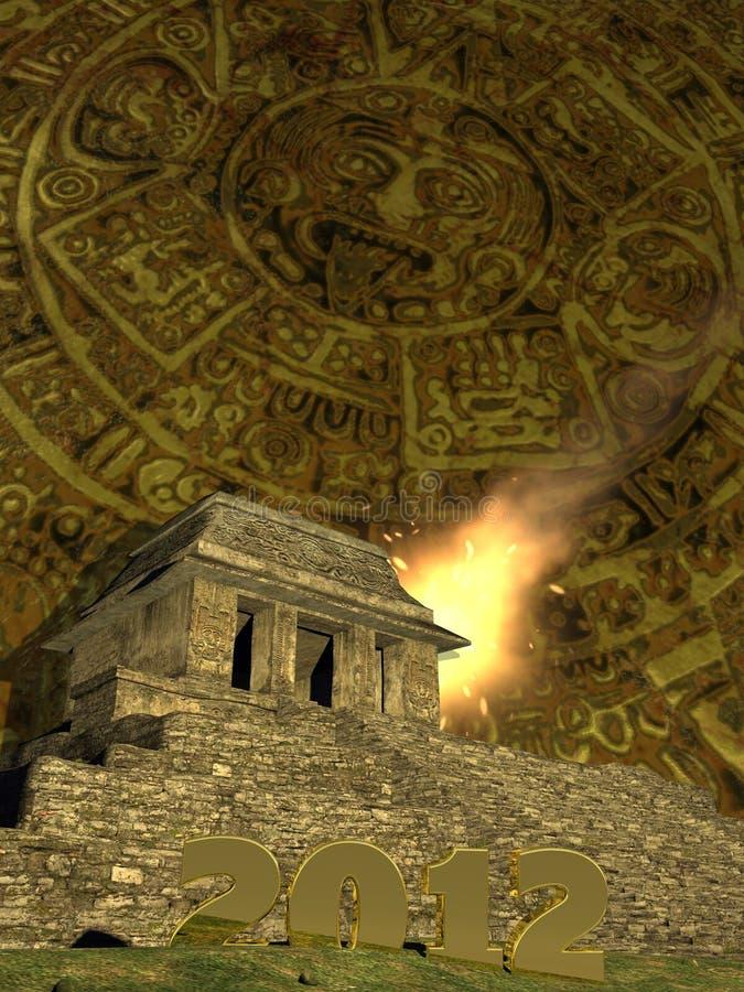 календар 2012 майяский стоковое фото
