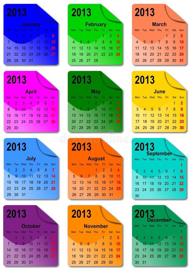 календар 2013 иллюстрация штока