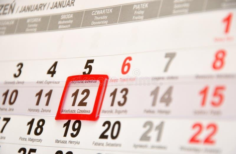 календар стоковая фотография rf