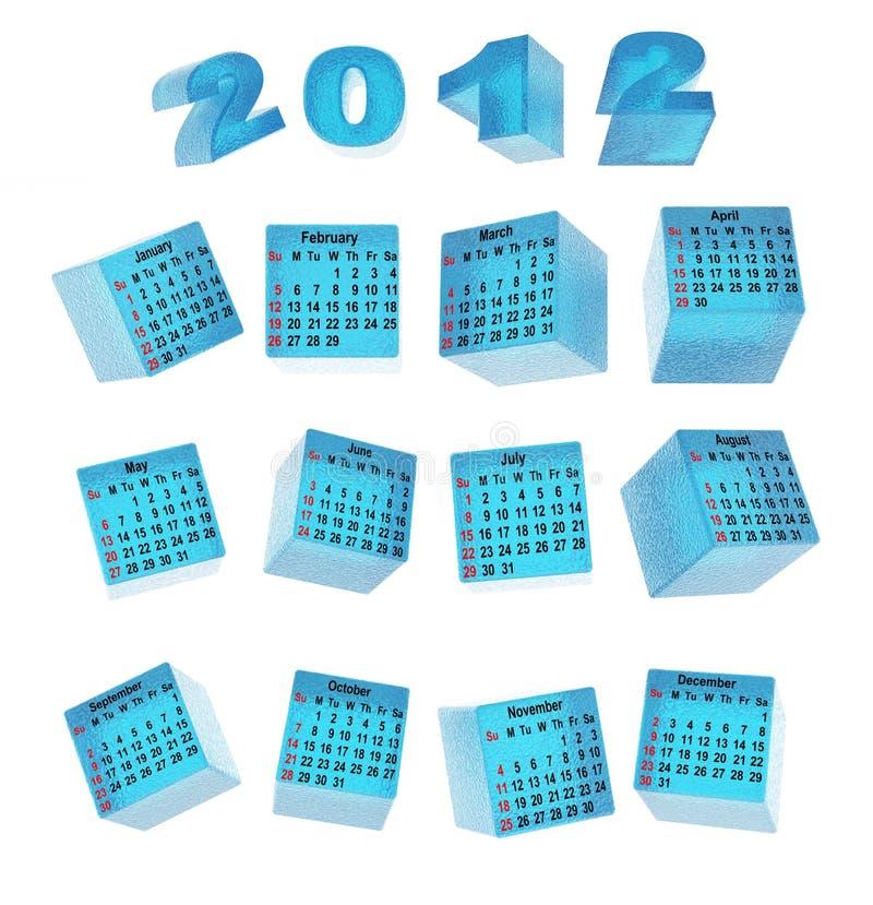 календар cubes льдед бесплатная иллюстрация