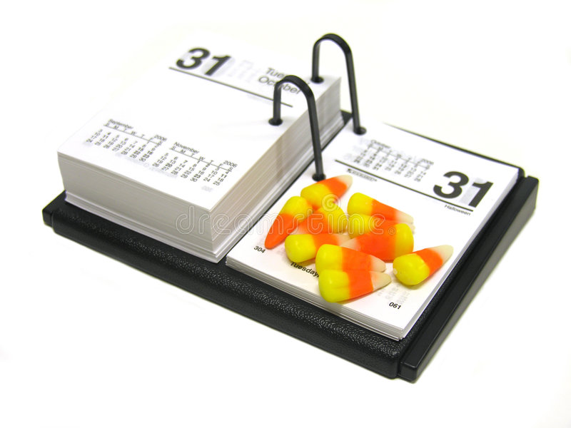 календар halloween стоковое фото rf