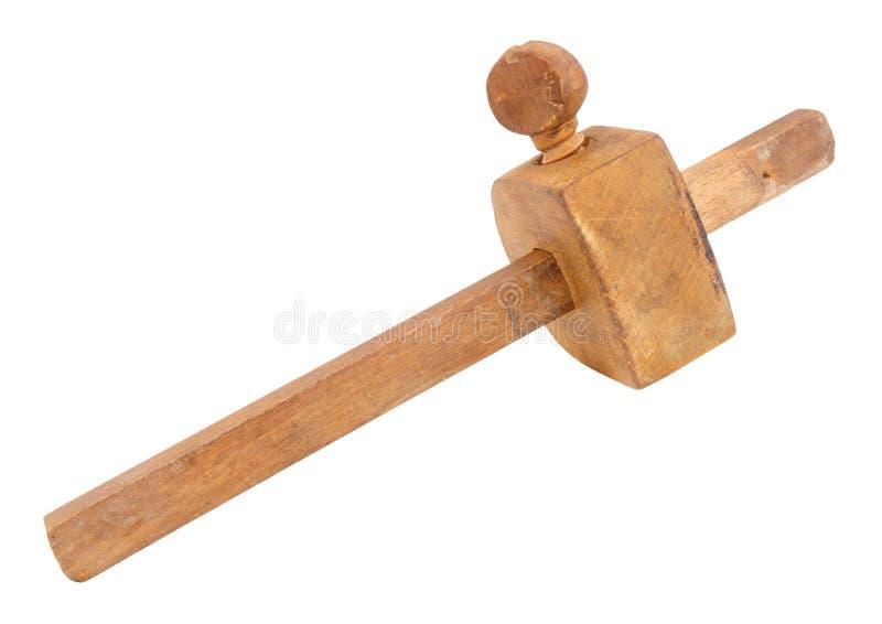 Калибровочный инструмент отметки работы по дереву стоковые фото