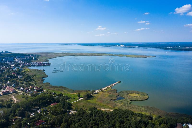 Калининградский залив около прибрежного села стоковые изображения