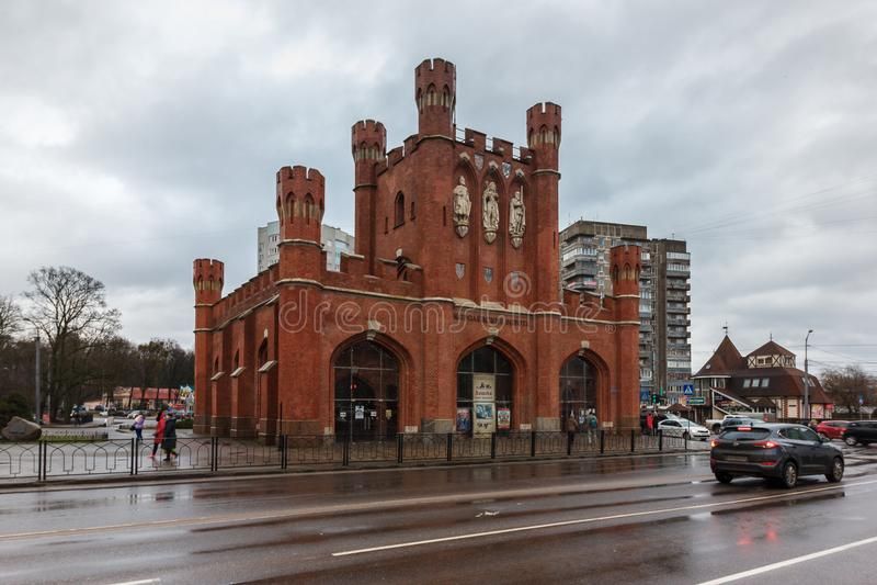 Калининград, Российская Федерация - 4-ое января 2018: Королевские стробы стоковое изображение