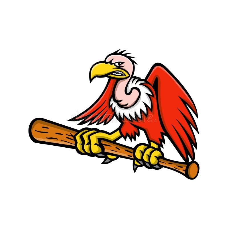 Калифорнийский талисман бейсбола кондора иллюстрация штока