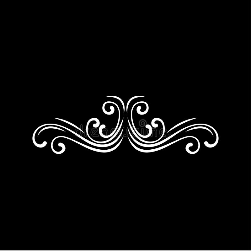 Каллиграфическая декоративная свирль Граница рамки, украшение Pade Филигранный элемент эффектной демонстрации Дизайн карточки сва бесплатная иллюстрация