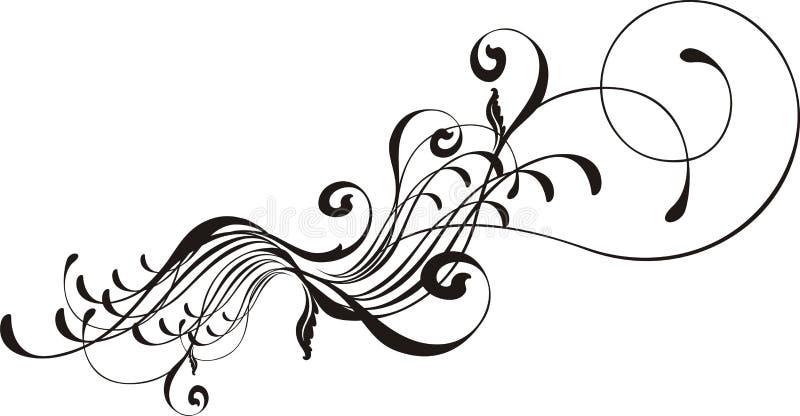 каллиграфический элемент конструкции иллюстрация штока