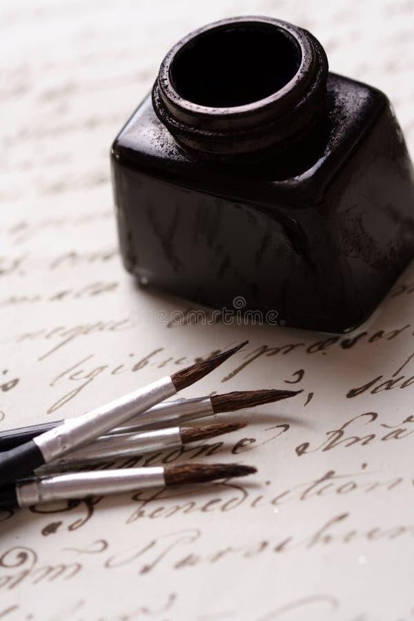 каллиграфия стоковая фотография