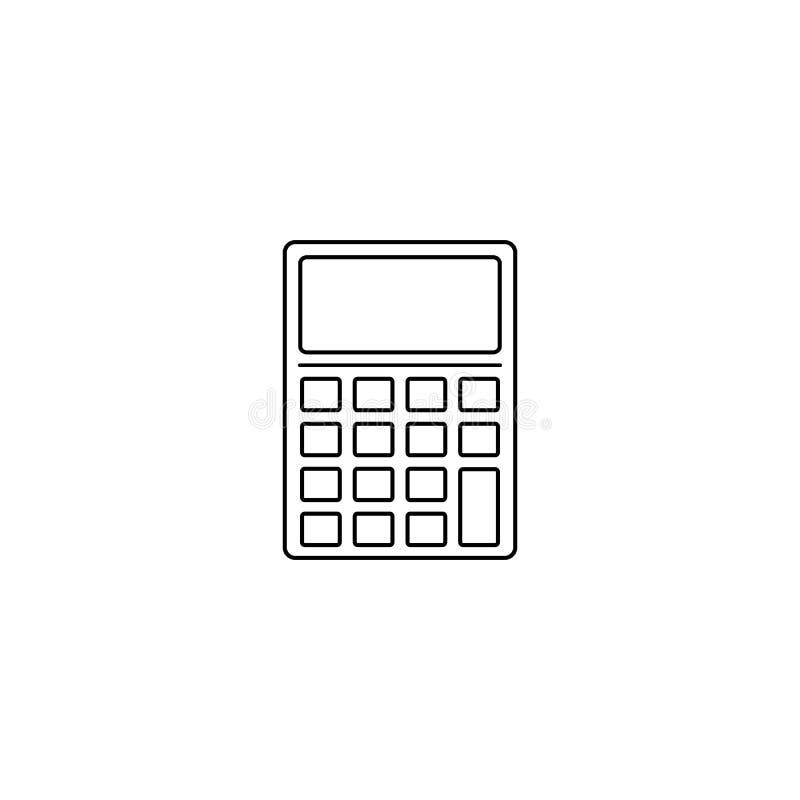 Калькулятор, значок математики Элемент вектора образования r иллюстрация вектора