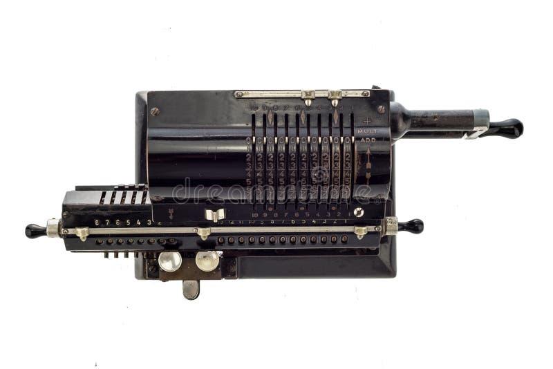 Калькулятор старого pinwheel механический стоковые изображения rf