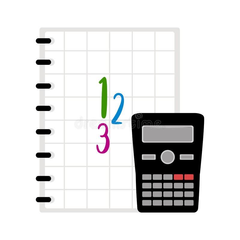 Калькулятор с значком книги Символ класса математики бесплатная иллюстрация