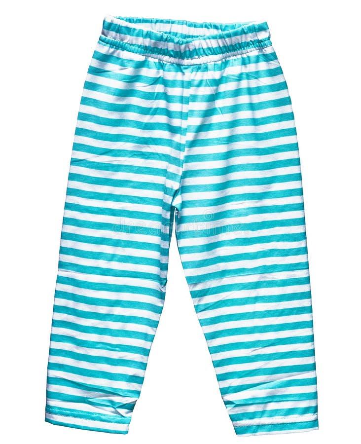 кальсоны голубых мальчиков striped лето стоковое фото rf