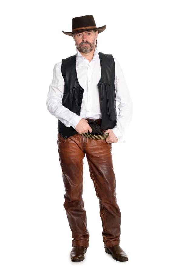 кальсоны человека пушки кожаные стоковые изображения