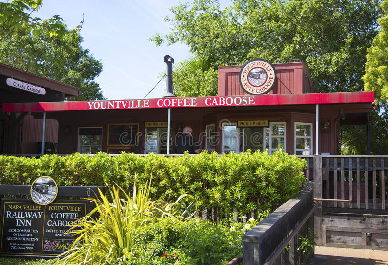 Камбуз кофе Yountville стоковые изображения
