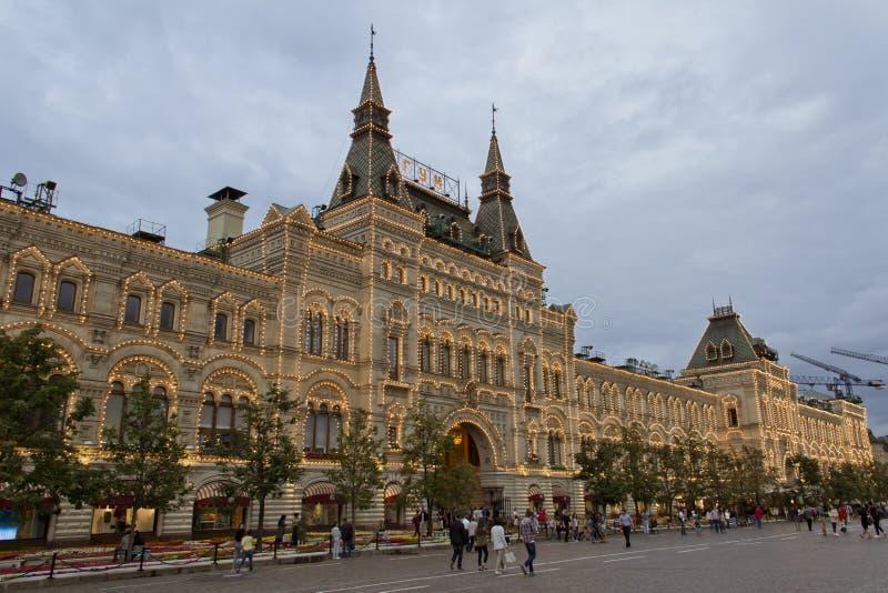 КАМЕДЬ магазина Москвы на красной площади стоковое изображение