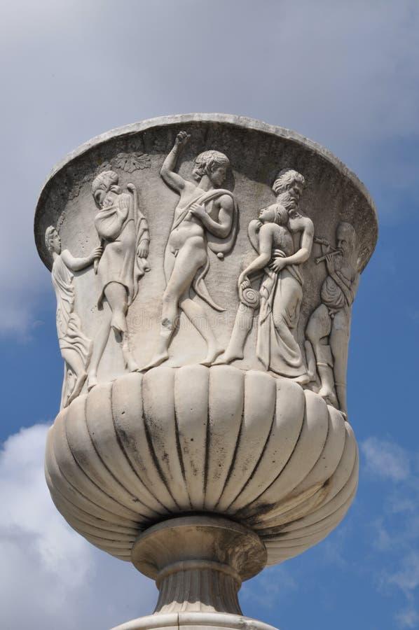 Каменная ваза сада стоковое изображение