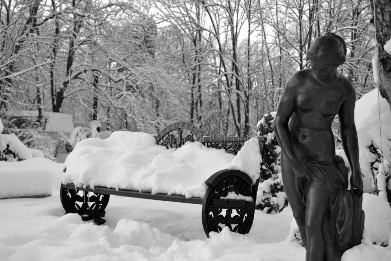 Каменная женщина стоковая фотография rf