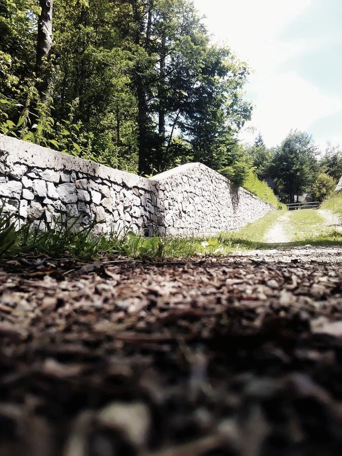 Каменная загородка, естественная стоковое фото