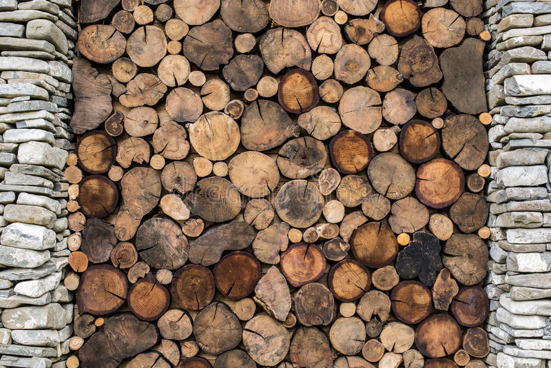 Каменная и деревянная предпосылка стоковые изображения