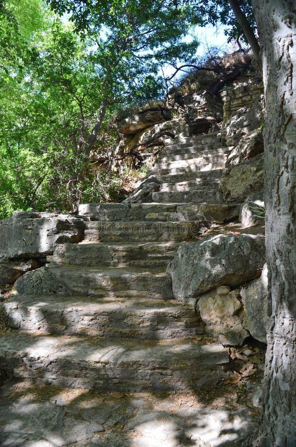 Каменная лестница, резервуар скалы Adobe, Аризона стоковое фото