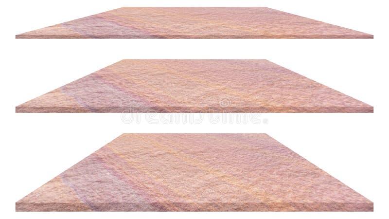Каменная плита изолированная на белой предпосылке для внутреннего внешнего дизайна украшения и индустриального строительства стоковое изображение