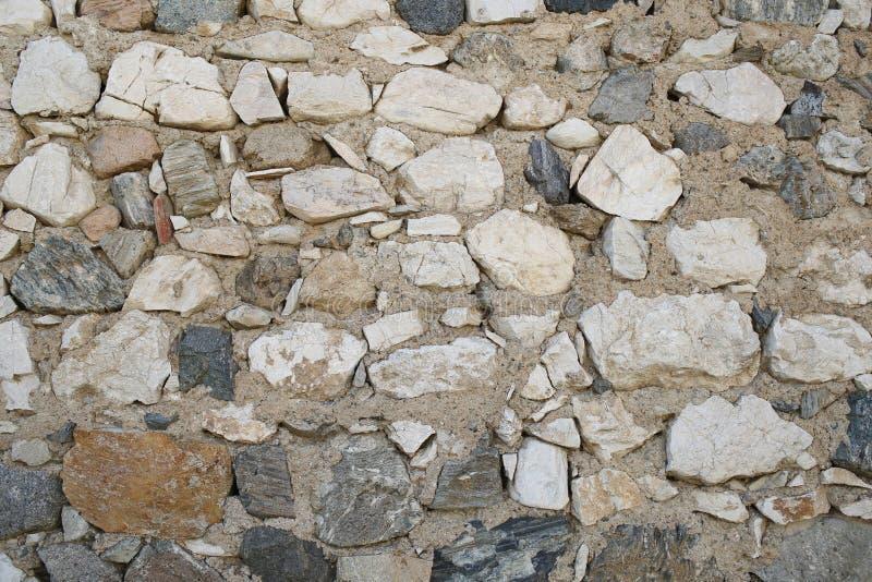 Каменная поверхность грубой текстуры Каменная стена на каменистой предпосылке Masonry старых утесов материальных Оборона и городи стоковая фотография