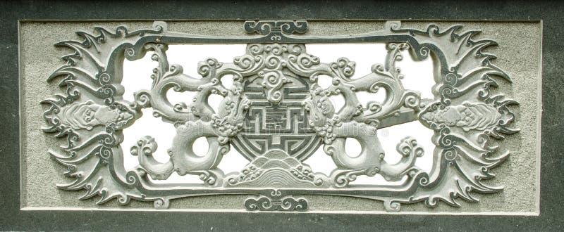 Каменная статуя монаха стоковые изображения rf