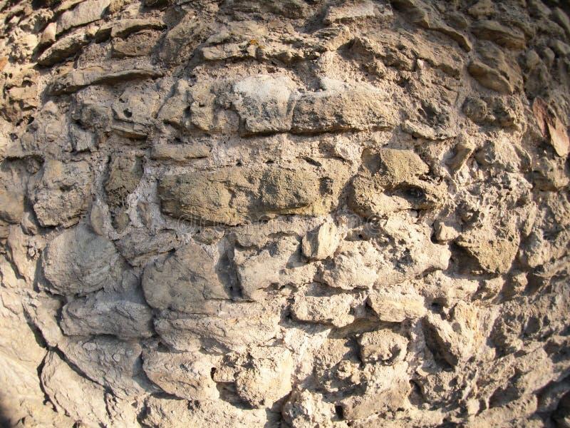 Каменная стена больших грубых камней серых стоковая фотография rf