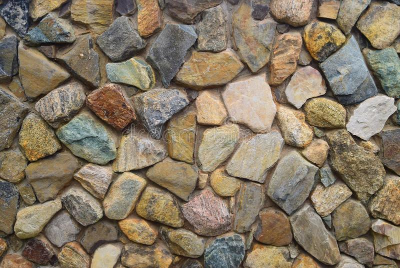 Каменная стена на острове блока стоковое изображение rf