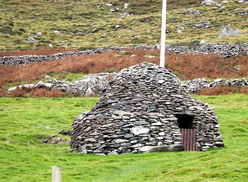 Download Каменная хата или Clochan в Ирландии Стоковое Изображение - изображение насчитывающей хата, beekeepers: 81801487