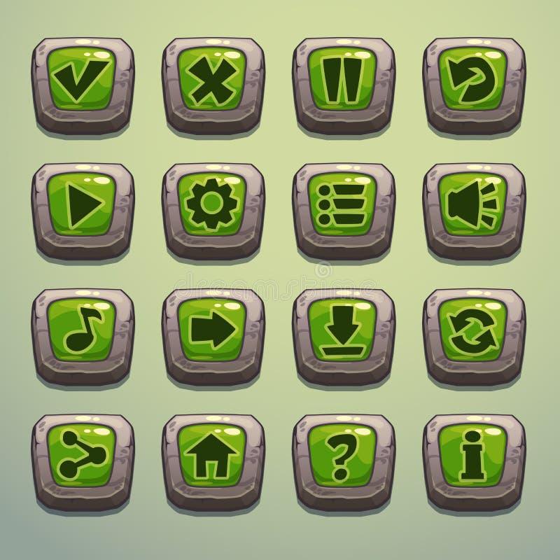 Каменные кнопки иллюстрация штока