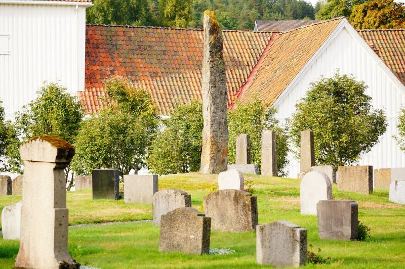 Каменные памятники и мемориалы, Норвегия стоковое изображение rf