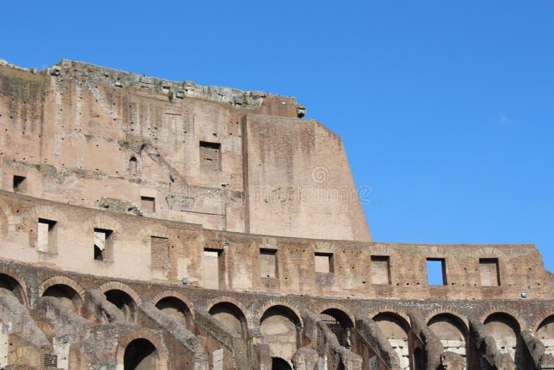 Каменные стены в Колизее, Roma стоковое фото