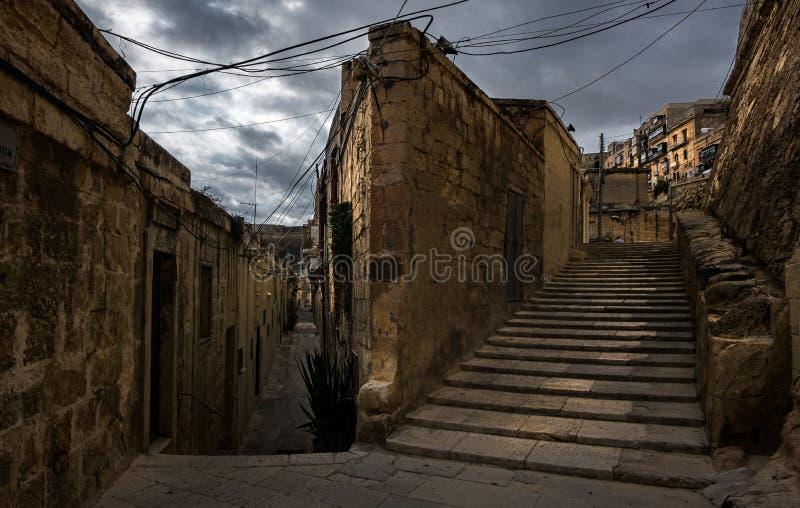 Каменные стены Мальты valletta стоковая фотография
