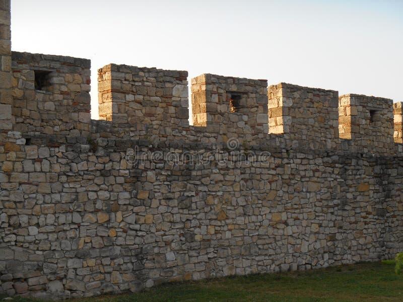 Каменные стены, Kalemegdan, крепость Белграда стоковые изображения rf