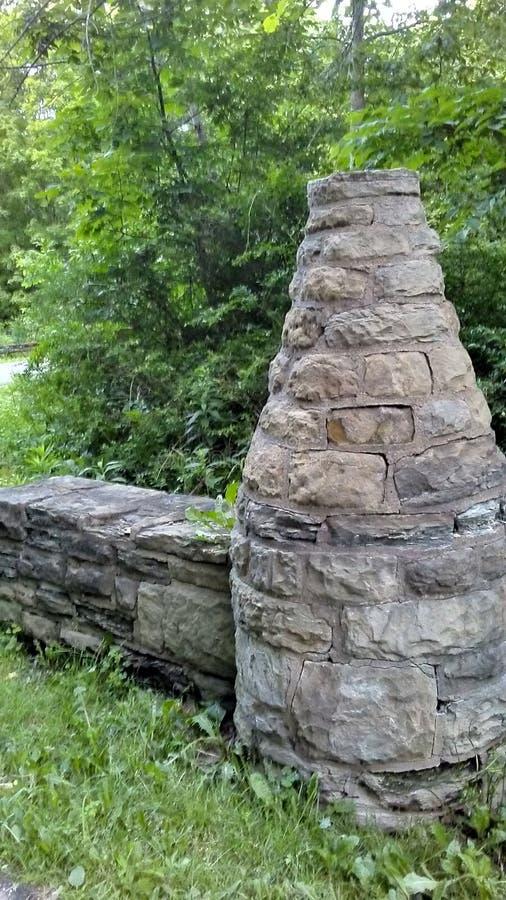 Каменные штендер и стена стоковые фото