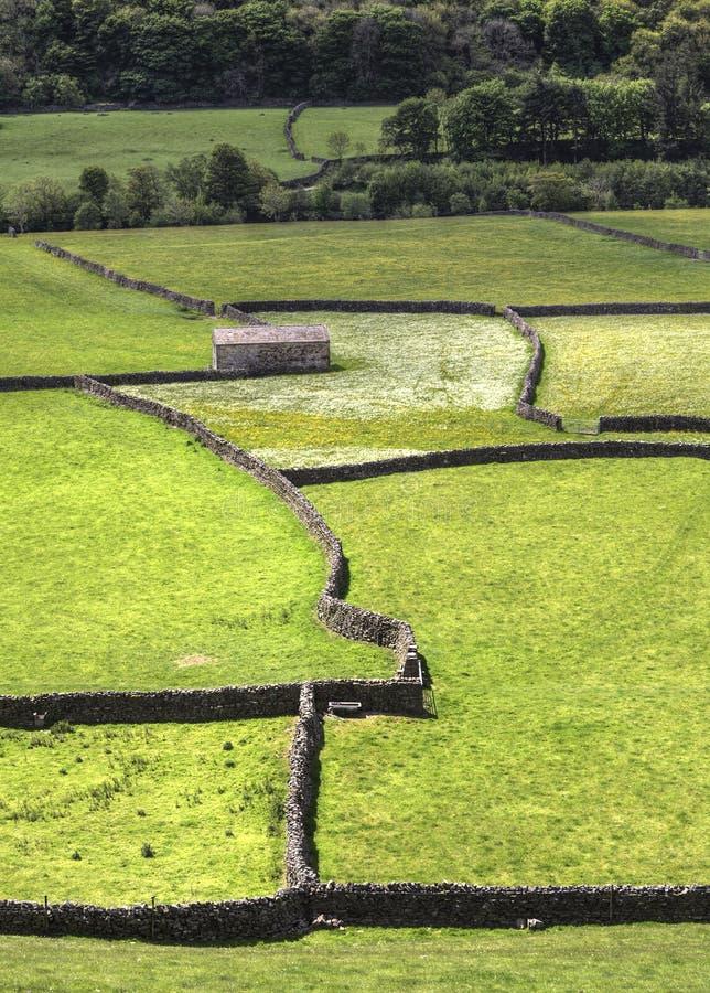 Каменный амбар, Gunnerside стоковые изображения rf